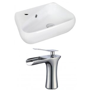 Comparison Ceramic 11 Wall Mount Bathroom Sink with Faucet and Overflow By Royal Purple Bath Kitchen