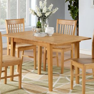 Dining Room Tables With Leaves butterfly leaf kitchen & dining tables you'll love | wayfair