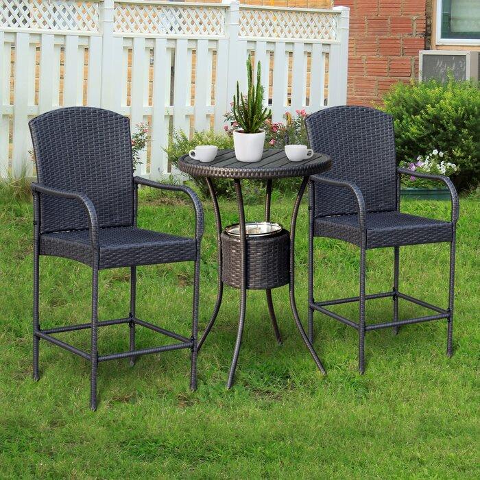 Outstanding Capps Outdoor 3 Piece Bistro Set Cjindustries Chair Design For Home Cjindustriesco