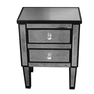 Jahnke Glass Corner End Table with Storage