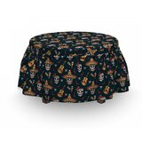 Mexican Skull Sombrero Chili 2 Piece Box Cushion Ottoman Slipcover Set by East Urban Home
