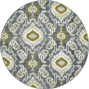 Victoria Blue Indoor/Outdoor Area Rug by World Menagerie