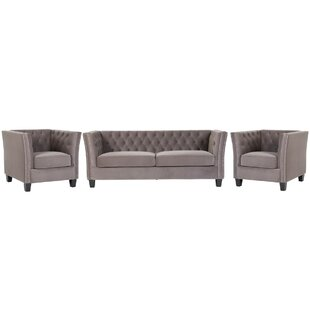 Kilding 3 Piece Sofa Set By Rosalind Wheeler