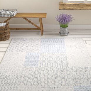 Best Reviews Clearman Modern White/Light Gray Area Rug By Gracie Oaks
