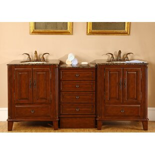 Allegheny 76 Double Bathroom Vanity Set by Silkroad Exclusive