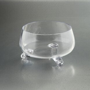 Completely new Clear Glass Footed Bowl   Wayfair SB38