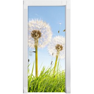 Dandelion In A Sunny Spring Meadow Door Sticker By East Urban Home
