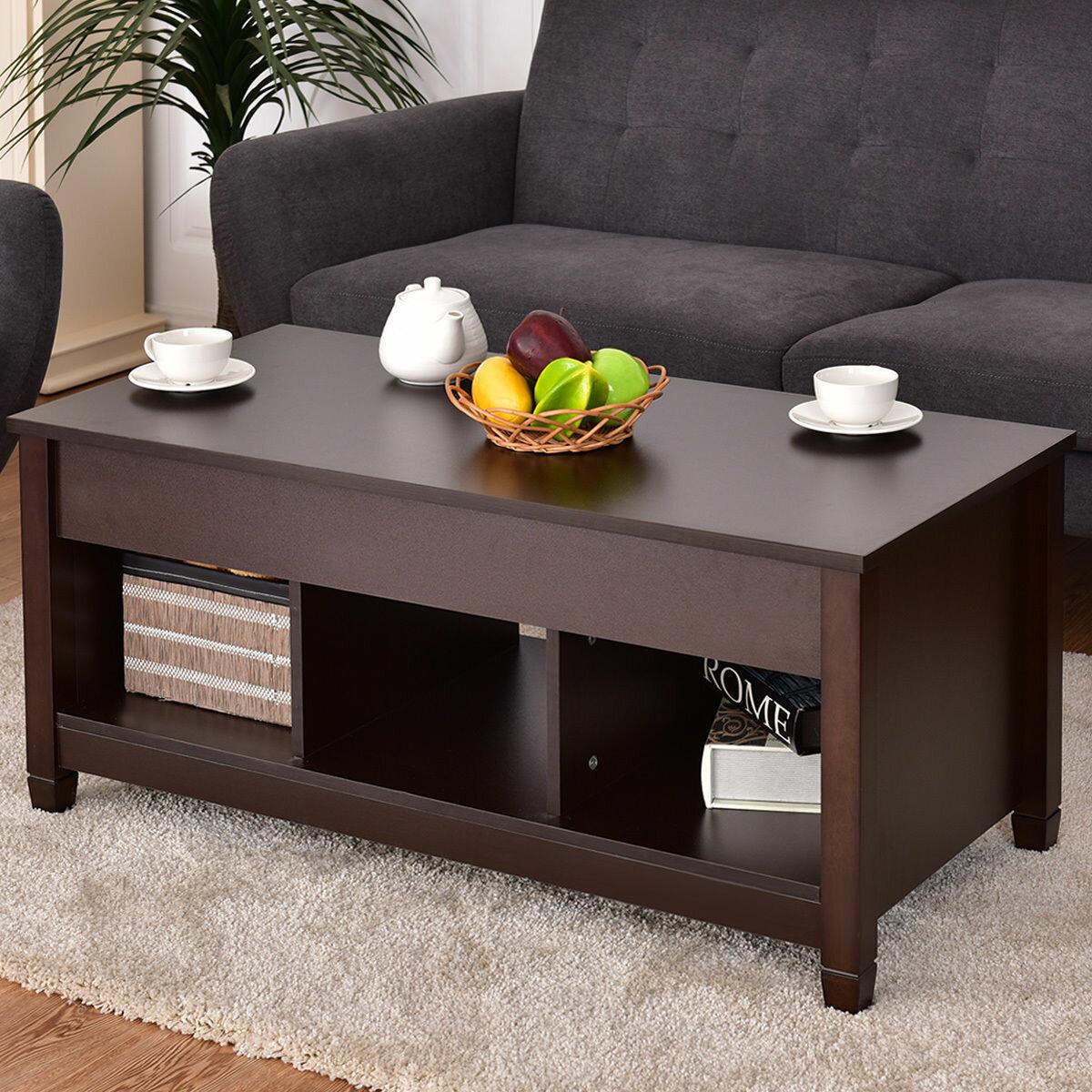 Highland dunes alaska lift top coffee table with storage reviews wayfair