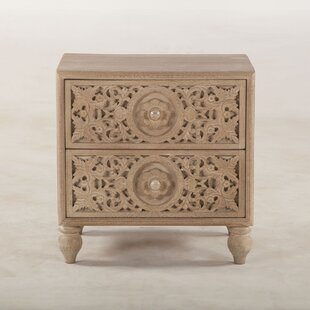 Bungalow Rose Maderia 2 Drawer Nightstand