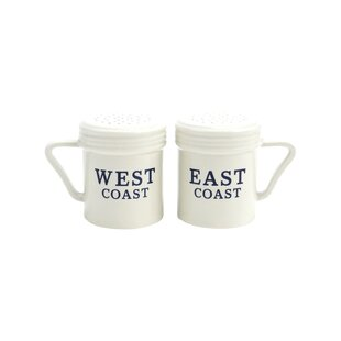 East Coast West Coast Salt & Pepper Set