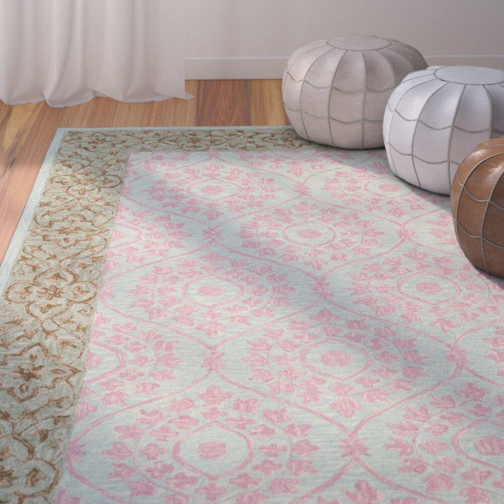 Charlton Home Guzi Hand Hooked Wool Cotton Taupe Area Rug Wayfair