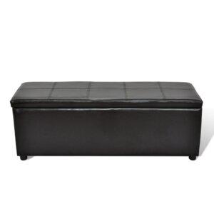 Gepolsterte Schlafzimmerbank aus Kunststoff mit Stauraum von Home Etc