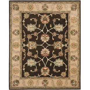 Compare prices Cardwell Hand-Tufted Beige/Black Area Rug By Darby Home Co