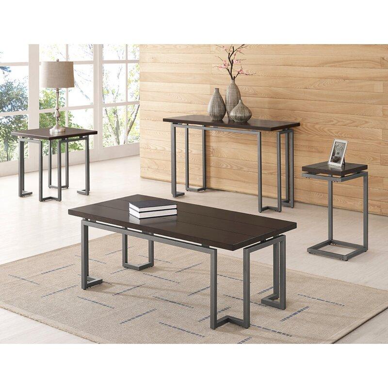 Williston Forge Catlett 3 Piece Coffee Table Set