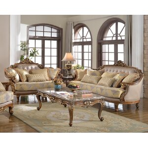 Traditional 2 Piece Living Room Set by BestMasterFurniture