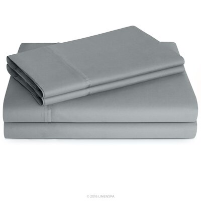Linenspa 600 Thread Count Sheet Set Colour: Stone, Size: Queen