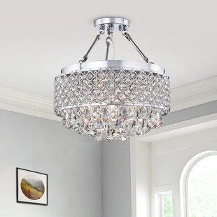 Darcy 4-Light LED Semi Flush Mount by Willa Arlo Interiors