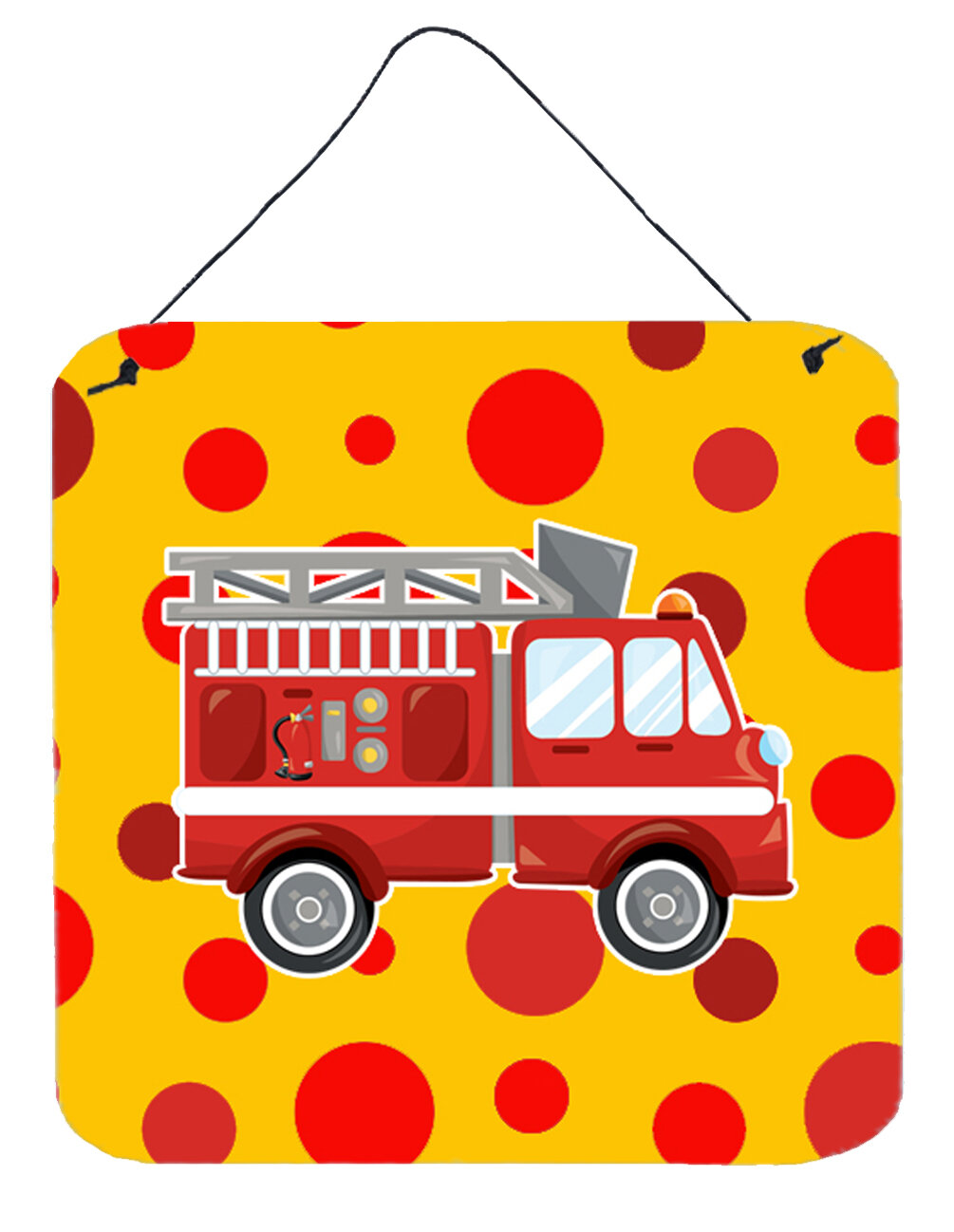 Zoomie Kids Fireman\'s Firetruck Metal Wall Décor | Wayfair