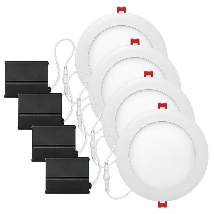 Slimline White Ultra 6 Slim Profile Recessed Lighting Kit