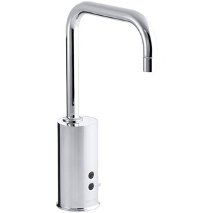 Kohler Gooseneck Single-Hole Touchless Hybrid Energy Cell-Powered Commercial Faucet with Insight Technology and Temperature Mixer