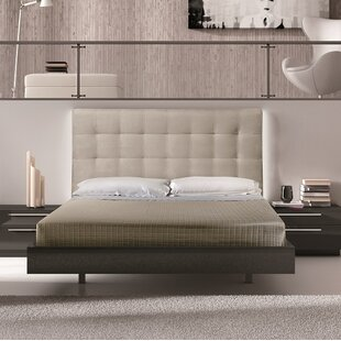 Callery Upholstered Platform Bed by Wade Logan