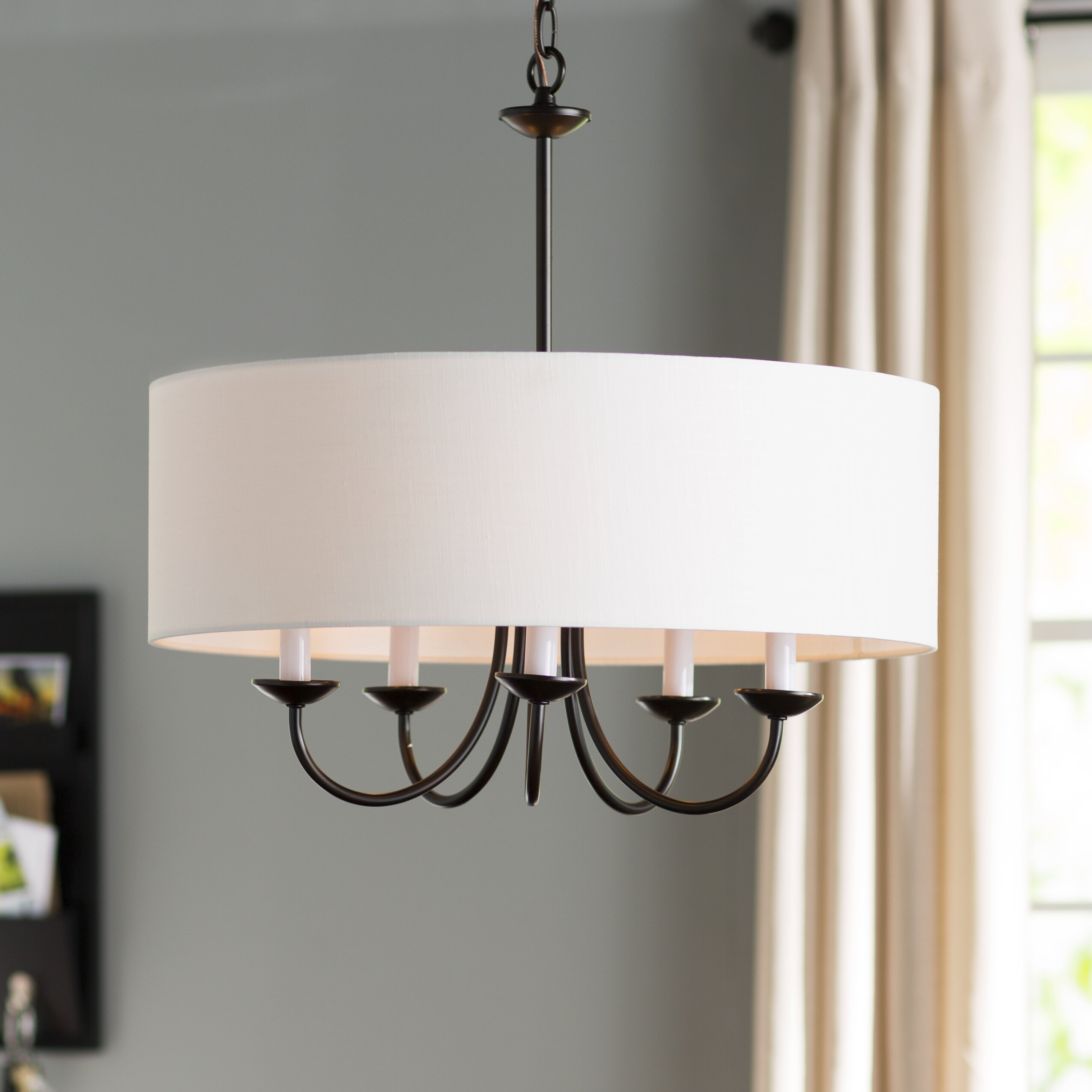 Andover mills burton 5 light drum chandelier reviews wayfair burton 5 light drum chandelier arubaitofo Image collections