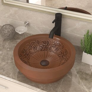 Great Price Admiral Metal Circular Vessel Bathroom Sink By ANZZI