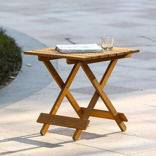 Highland Dunes Chartier Folding Wood Side Table