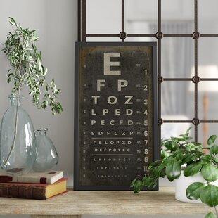 Eye Chart Wall Art Wayfair
