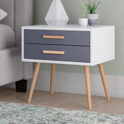 Nachttisch Scanio mit 2 Schubladen | Schlafzimmer > Nachttische | Holz - Filz - Vi | Fjørde & Co