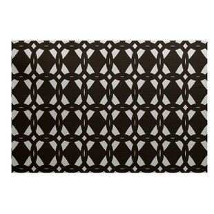 Caspar Geometric Print Brown Indoor/Outdoor Area Rug