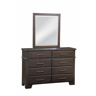 Walston 8 Drawer Double Dresser with Mirror
