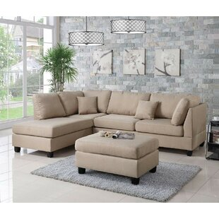 Mercury Row Bibler Sectional with Ottoman
