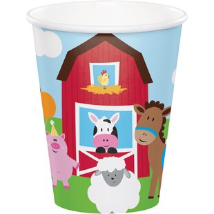 Farm Fun Paper Disposable Cup (Set of 24)