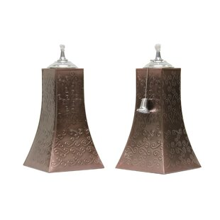 Outdoor Interiors Square Tabletop torch (Set of 2)