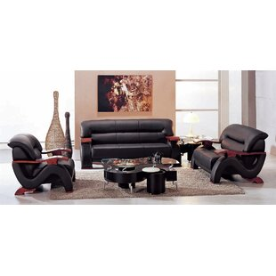 Belgr Leather Loveseat by Orre..