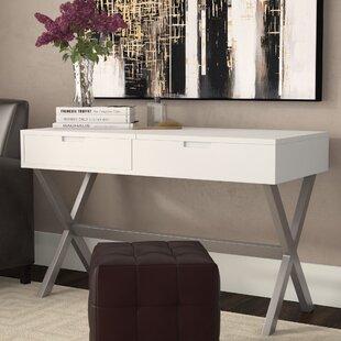 Wade Logan Clancy Desk Vanity Set with Mirror