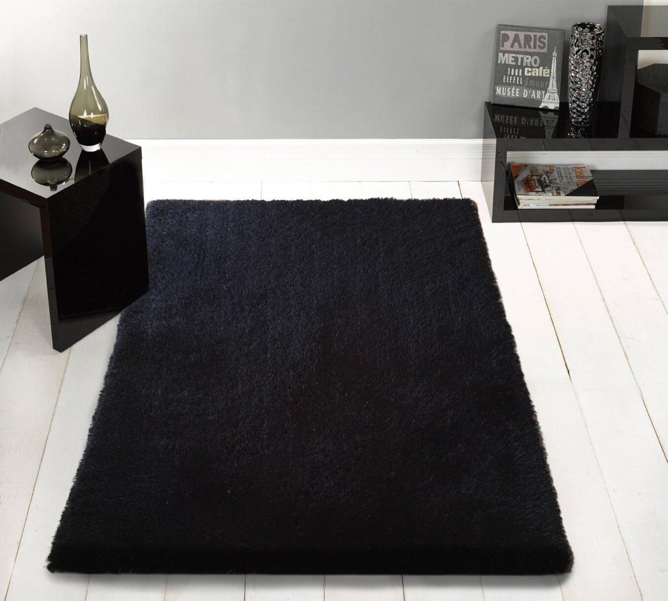 Wrought Studio Roseau Animal Print Handmade Cowhide Black Area Rug Wayfair