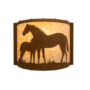 1-Light Mare and Foal Wall Sco..