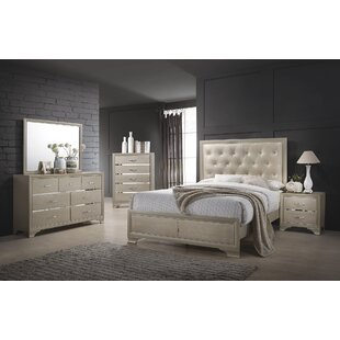 House of Hampton Lawrence Hill Upholstered Panel Bed