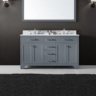 Cassel 60 inch  Double Bathroom Vanity Set