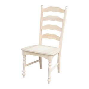 Emilien Solid Wood Dining Chair (Set of 2) by La..
