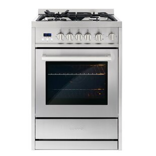 24 2.73 cu ft. Free-standing Gas Range by Cosmo