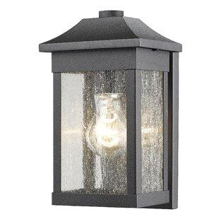Loon Peak Astille 1-Light Glass Shade Outdoor Flush Mount