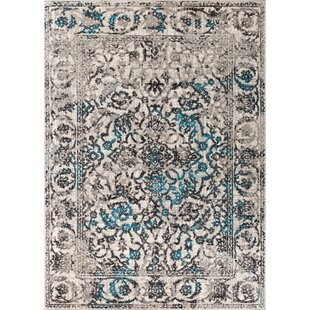 Best Reviews Melitta Traditional Blue Area Rug By Bungalow Rose