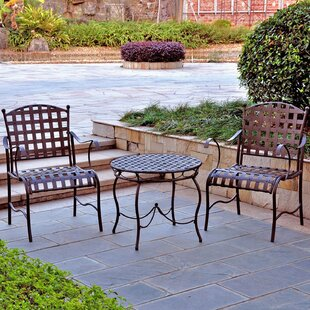 Schilling 3 Piece Patio Bistro Set by Alcott Hill