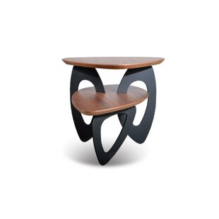 Cloquet Wood and Metal End Table by Orren Ellis