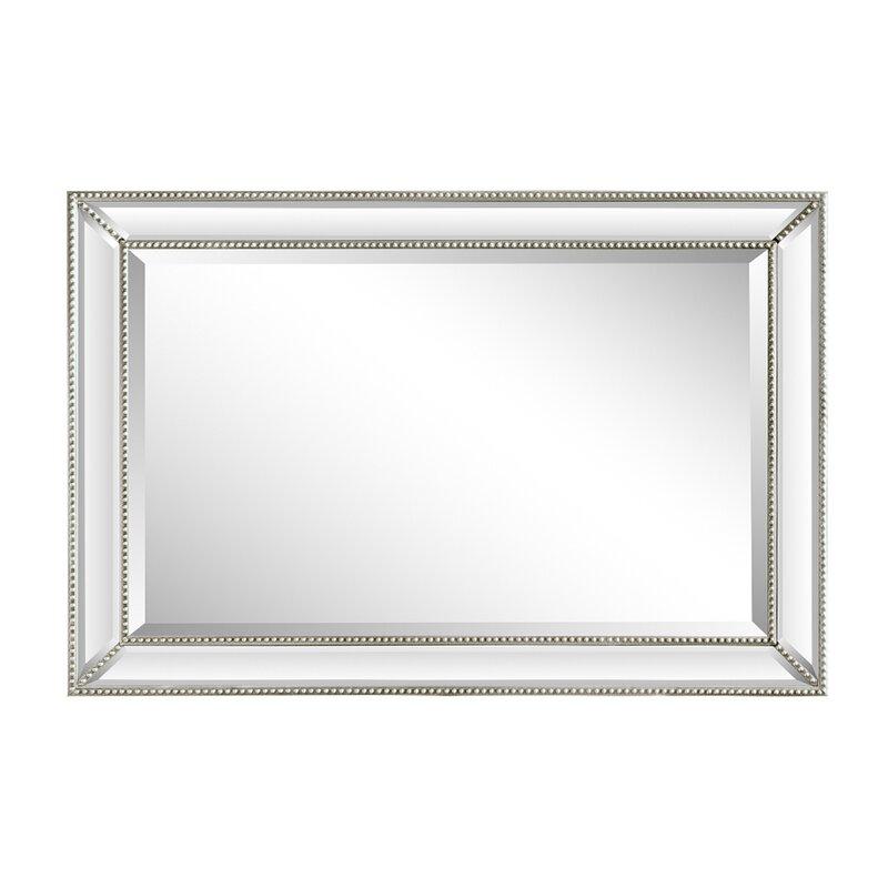 House Of Hampton Boland Rectangle Beaded Beveled Accent Mirror Reviews Wayfair