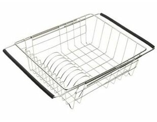 Stainless Steel Dish Rack With Extendable Arms by Just Manufacturing 2019 Sale