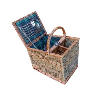 Lambourn 3 Tone Fitted Picnic Basket By Brambly Cottage